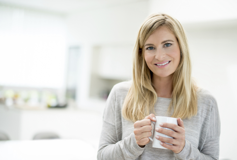 girl with warm drink